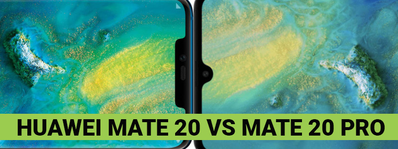 Huawei Mate 20 and 20 Pro side by side